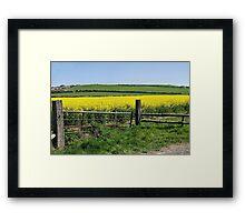 Gateway To Golden Fields Framed Print