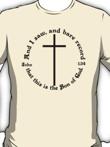 JOHN 1:34 circular T-Shirt