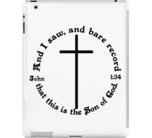 JOHN 1:34 circular iPad Case/Skin
