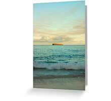 Molokini At Sunrise, Maui Greeting Card