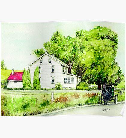 Country Farmhouse in pennsylvania Poster