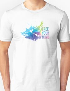 Free Your Mind - Dove Unisex T-Shirt