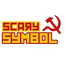 Scary symbol of communism Photographic Print