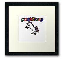 Unicorn Humor Framed Print