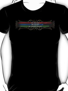 RPG Game Stat Bars (HP, MP and XP) T-Shirt