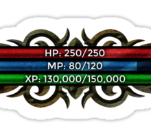 RPG Game Stat Bars (HP, MP and XP) Sticker