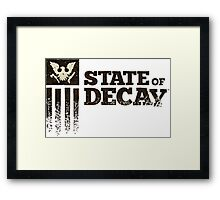 state of decay logo Framed Print