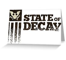 state of decay logo Greeting Card