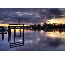 River sunrise. Photographic Print