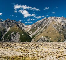 mountains in mt cook national park by peterwey