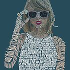 Blue Taylor Swift Typography by Kristel To