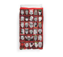 Faces of Horror Collage art Duvet Cover