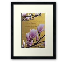 Silence is ... Inspired by a poem by Elaine Maria Upton Framed Print