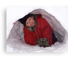 First Igloo Canvas Print