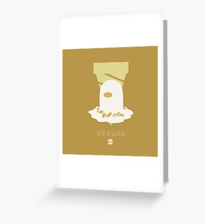 Pokemon Type - Ground Greeting Card