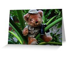 Teddy The Explorer Greeting Card