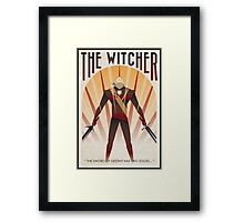 the witcher poster Framed Print