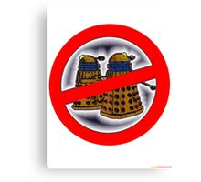 Doctor Who No Parking Sign Design Canvas Print