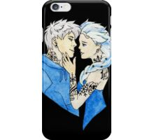 Tattooed Elsa and Jack Frost iPhone Case/Skin