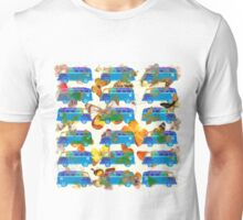 Butterflies and Surfer Vans Unisex T-Shirt