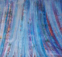 Winter Forest by Holly Cannell - Abstract Painting by hollycannell