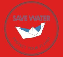 Save Water Protect Your Planet Kids Tee