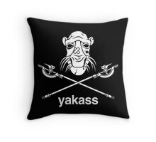 Yakass Throw Pillow
