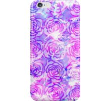 Pink, Purple, and Blue Floral Watercolor Pattern iPhone Case/Skin