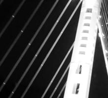 LIFE'S LITTLE GEMS - B&W Bay Bridge Sticker