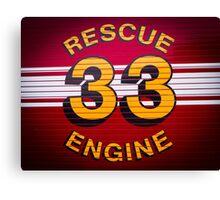 Rescue Engine 33 Canvas Print
