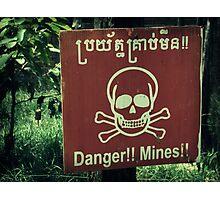 Danger Landmines Photographic Print