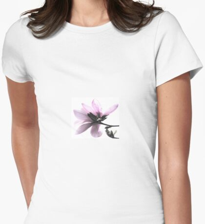 Japanese Magnolia Blossom Womens Fitted T-Shirt