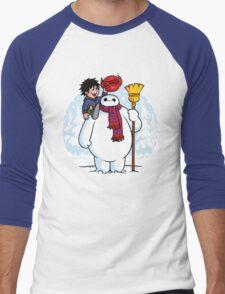 Inflatable Snowman Men's Baseball ¾ T-Shirt