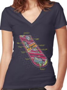 Hoverboard Anatomy Women's Fitted V-Neck T-Shirt