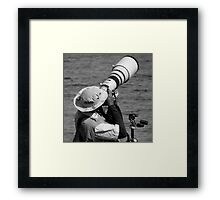 The Pro : Action ! Framed Print