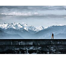 Strolling the Breakwater Photographic Print