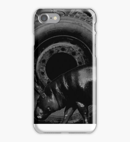 Hippo browsing used tires iPhone Case/Skin