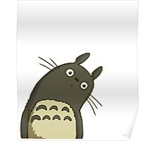 Confused Totoro Poster