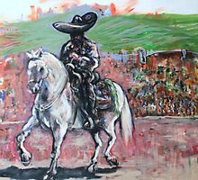 Charro Negro Going Home  by Reynaldo