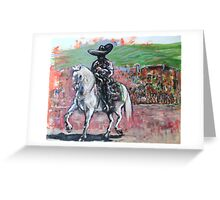 Charro Negro Going Home  Greeting Card