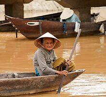 Typical Vietnamese boats by emmettm