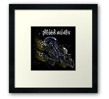 Predator and Alien Framed Print