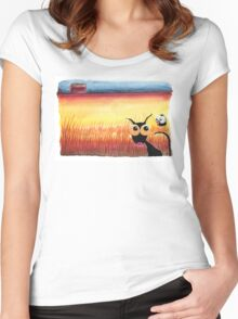 Sunny corn field Women's Fitted Scoop T-Shirt