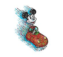 Bring Back Memories - Mickey Mouse Driving Toy Car Photographic Print