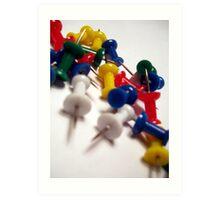 Office Supplies: Pins Art Print