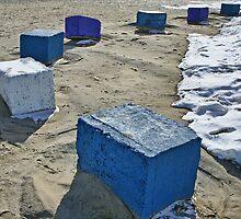 blocks in sand by JohnKeeley
