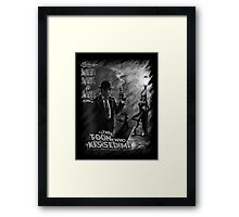 The Toon Who Kissed Me (B&W) Framed Print