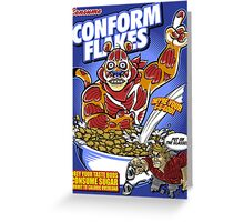 Conform Flakes Greeting Card