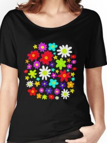 Colourful Flowers Women's Relaxed Fit T-Shirt