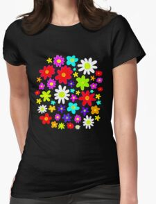 Colourful Flowers Womens Fitted T-Shirt